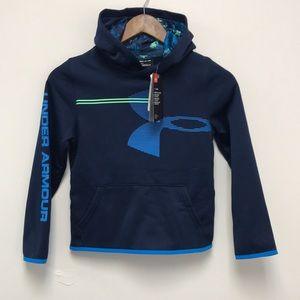 Under Armour Coldgear Hoodie Sweater Sz YSM Blue